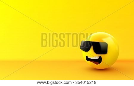 Face With Sunglasses Emoji - Emoticon With Dark Sunglasses. Like A Boss.