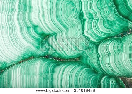 green malachite stone texture macro
