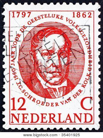 Postage stamp Netherlands 1960 Jacobus Schroeder van der Kolk