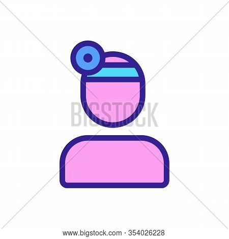 Optometrist Icon Vector. Thin Line Sign. Isolated Contour Symbol Illustration