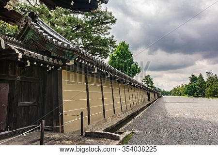 Kyoto, Japan, Asia - September 3, 2019 : Exterior Walls Of The Imperial Palace