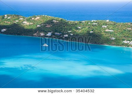 Yacht on blue ocean