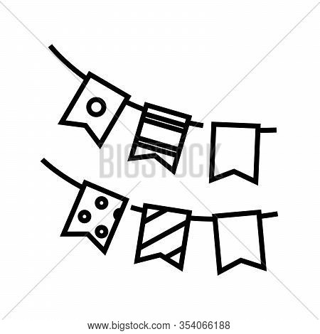 Winter Decorating Line Icon, Concept Sign, Outline Vector Illustration, Linear Symbol.