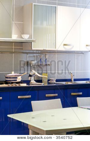 Blue Kitchen Vertical
