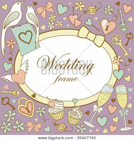 Wedding-frame-on-violet