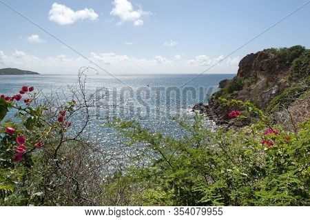 The Scenic View Of Red Point Peninsula And Lindbergh Bay On St. Thomas Island (u.s. Virgin Islands).