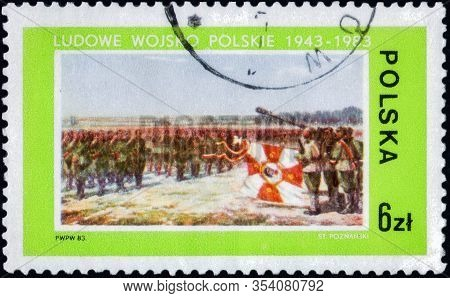 Saint Petersburg, Russia - February 20, 2020: Postage Stamp Issued In The Poland With The Image Of T