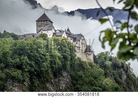 The Castle In The Capital Of Liechtenstein. Vaduz Castle, The Official Residence Of The Prince Of Li