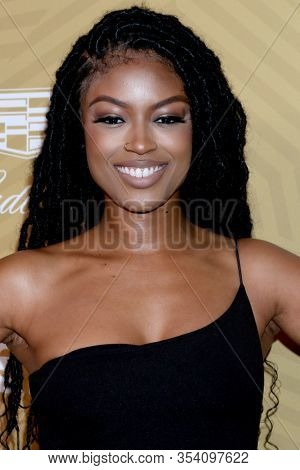 LOS ANGELES - FEB 23:  Javicia Leslie at the American Black Film Festival Honors Awards at the Beverly Hilton Hotel on February 23, 2020 in Beverly Hills, CA
