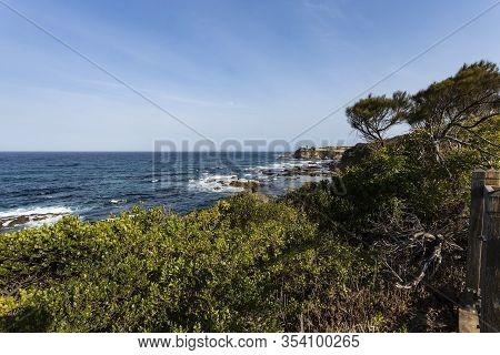 View Of The Beautiful Coastline Near The Wagonga Head, Narooma, New South Wales, Australia