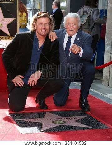 LOS ANGELES - FEB 24:  Darren Dowler, Tony Butala at the The Lettermen Star Ceremony on the Hollywood Walk of Fame on February 24, 2019 in Los Angeles, CA