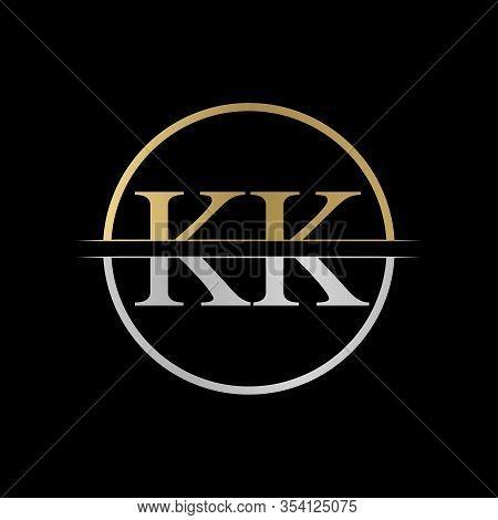 Initial Kk Letter Logo Design Vector Illustration. Abstract Letter Kk Logo Design