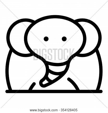 Fat Elephant Icon. Outline Fat Elephant Vector Icon For Web Design Isolated On White Background
