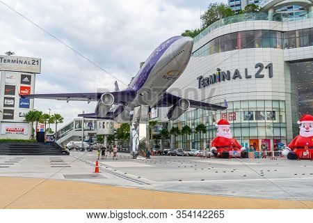 Pattaya,thailand - Nov 29, 2019 : The Terminal 21, Shopping Mall And The Grand Centre Point Pattaya