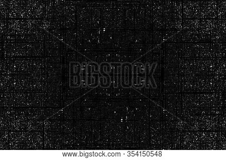 Black And White With Grunge, Grit And Random Black Lines Texture Background. Cover, Any Background,