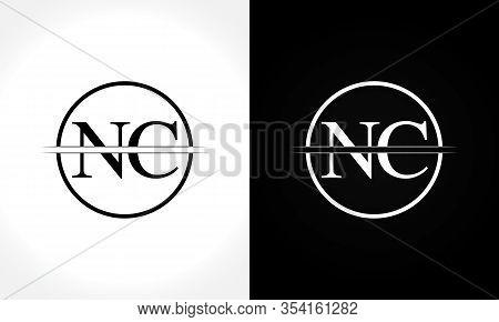 Initial Monogram Letter Nc Logo Design Vector Template. Nc Letter Logo Design