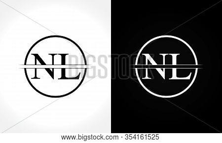 Initial Monogram Letter Nl Logo Design Vector Template. Nl Letter Logo Design