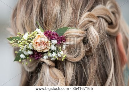 Beautiful Wedding Hairstyles For Brides,  Flowers In A Bride Hair