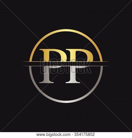 Initial Monogram Letter Pp Logo Design Vector Template. Pp Letter Logo Design