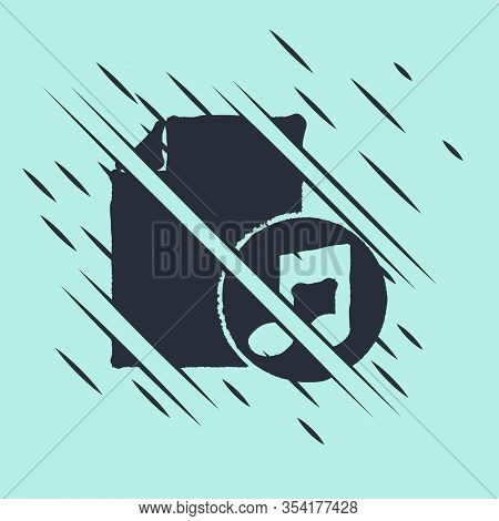 Black Music Book With Note Icon Isolated On Green Background. Music Sheet With Note Stave. Notebook