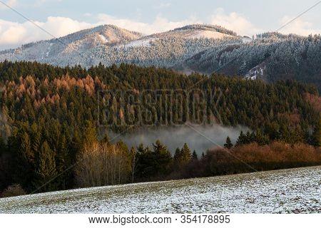 View Of Velka Fatra National Park In Turiec Region, Slovakia.