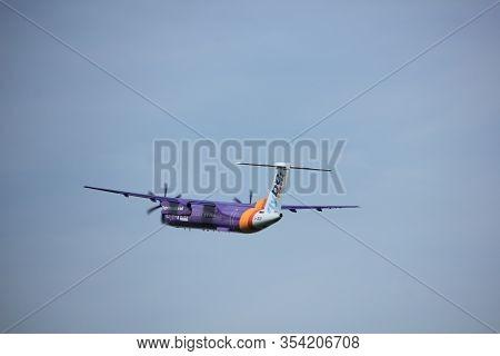 Amsterdam, The Netherlands  -  June 2nd, 2017: G-jedp Flybe De Havilland Canada Dhc-8-402q Dash 8 Ta