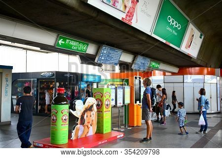 Bangkok, Th - Dec 11: Bangkok Mass Transit System Mo Chit Station On December 11, 2016 In Bangkok, T