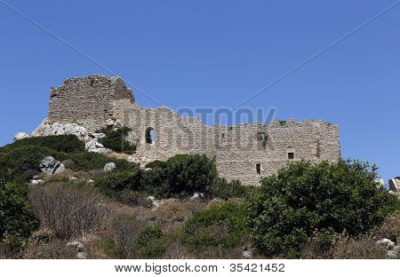 Kritinia Castle, Rhodes, Greece, Europe
