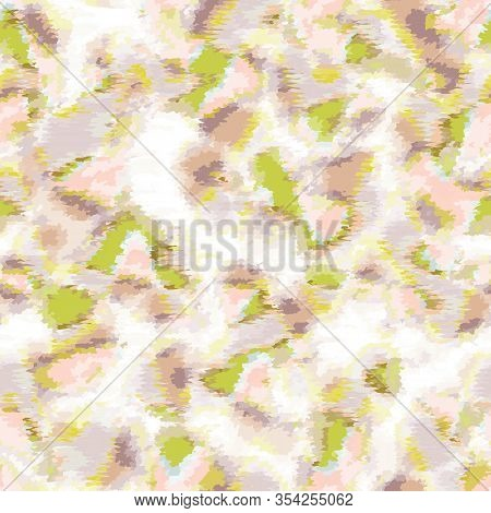 Abstract Random Organic Pastel Vector Texture. Camouflage Speckled Flecks In Spring Color Seamless P
