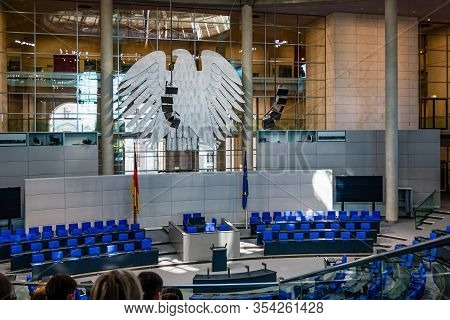 Meeting Place Of The German Parliament Bundestag In Reichstag Building In Berlin