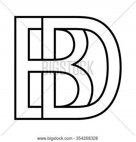 Logo Sign Bd, Db Icon Sign Interlaced Letters B And D Vector Logo Bd, Db First Capital Letters Patte
