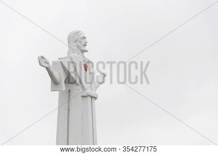 Mar Del Plata, Buenos Aires / Argentina; Feb 1, 2017: Known As Christ The Redeemer Or San Salvador,