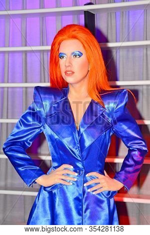 Bangkok, Th - Dec 13: Lady Gaga Wax Figure At Madame Tussauds On December 13, 2016 In Bangkok, Thail