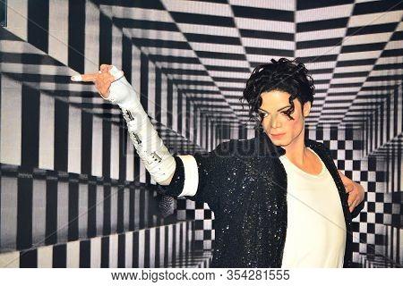 Bangkok, Th - Dec 13: Michael Jackson Wax Figure At Madame Tussauds On December 13, 2016 In Bangkok,