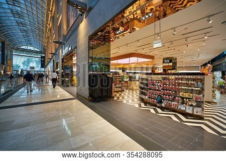 SINGAPORE - JANUARY 20, 2020: entrance to Jasons Deli at the Shoppes at Marina Bay Sands. Jasons Deli is a supermarket and delicatessen.