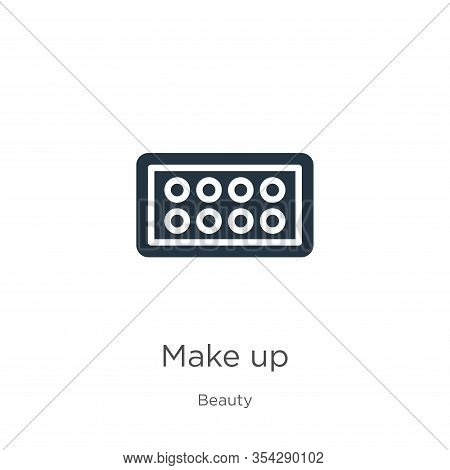 Make Up Icon Vector. Trendy Flat Make Up Icon From Beauty Collection Isolated On White Background. V