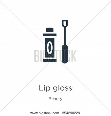 Lip Gloss Icon Vector. Trendy Flat Lip Gloss Icon From Beauty Collection Isolated On White Backgroun