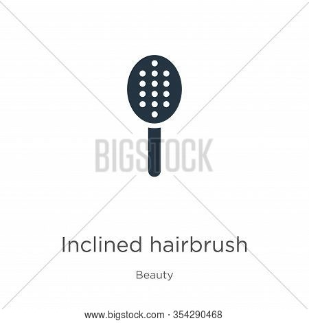 Inclined Hairbrush Icon Vector. Trendy Flat Inclined Hairbrush Icon From Beauty Collection Isolated