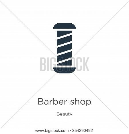 Barber Shop Icon Vector. Trendy Flat Barber Shop Icon From Beauty Collection Isolated On White Backg