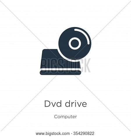 Dvd Drive Icon Vector. Trendy Flat Dvd Drive Icon From Computer Collection Isolated On White Backgro