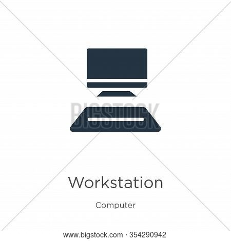 Workstation Icon Vector. Trendy Flat Workstation Icon From Computer Collection Isolated On White Bac