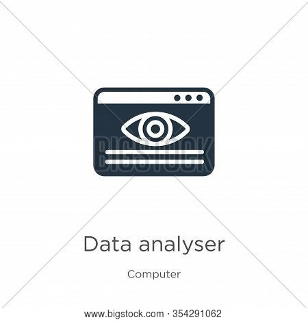 Data Analyser Icon Vector. Trendy Flat Data Analyser Icon From Computer Collection Isolated On White