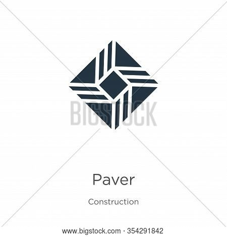 Paver Icon Vector. Trendy Flat Paver Icon From Construction Collection Isolated On White Background.