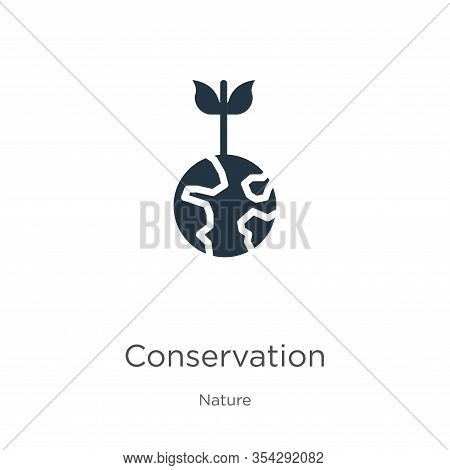 Conservation Icon Vector. Trendy Flat Conservation Icon From Nature Collection Isolated On White Bac
