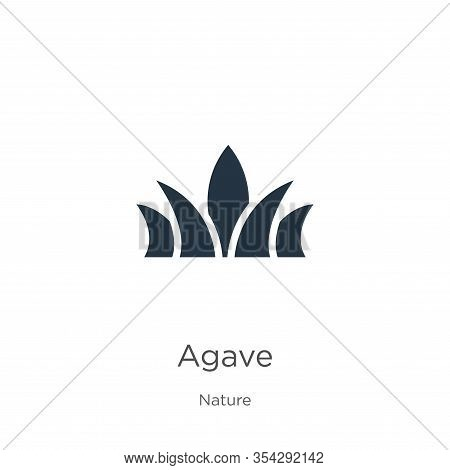 Agave Icon Vector. Trendy Flat Agave Icon From Nature Collection Isolated On White Background. Vecto