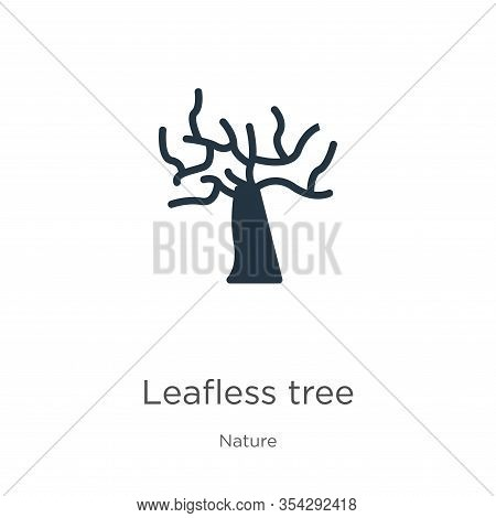 Leafless Tree Icon Vector. Trendy Flat Leafless Tree Icon From Nature Collection Isolated On White B
