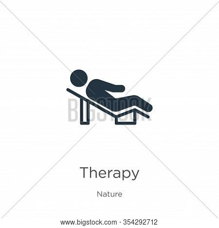 Therapy Icon Vector. Trendy Flat Therapy Icon From Nature Collection Isolated On White Background. V