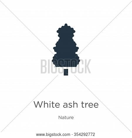 White Ash Tree Icon Vector. Trendy Flat White Ash Tree Icon From Nature Collection Isolated On White