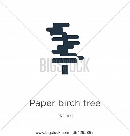 Paper Birch Tree Icon Vector. Trendy Flat Paper Birch Tree Icon From Nature Collection Isolated On W