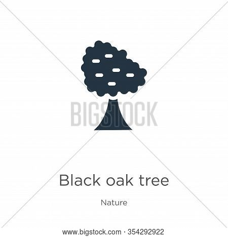 Black Oak Tree Icon Vector. Trendy Flat Black Oak Tree Icon From Nature Collection Isolated On White